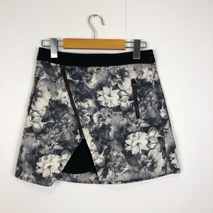 Zara Basics floral mini skirt Sz XS
